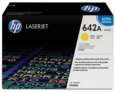 toner yellow HP 642A CB402A