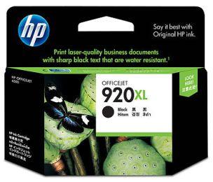 czarny tusz HP 920XL CD975A o powiększonej wydajności