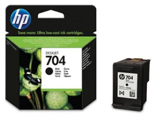 czarny tusz HP 704 CN692A