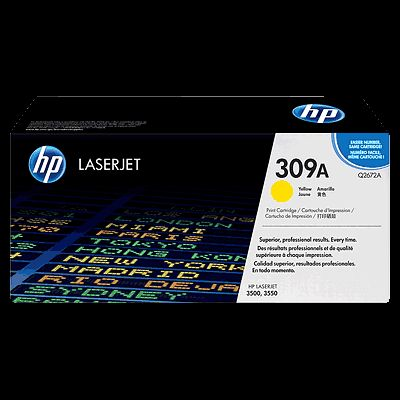 toner yellow HP 309A Q2672A