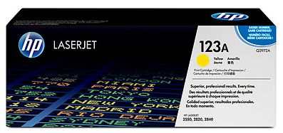 toner yellow HP 123A Q3972A