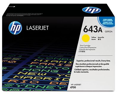 toner yellow HP 643A Q5952A